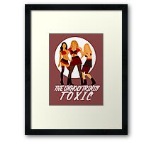 The unholy trinity minimalistic - toxic version 2 ; Framed Print
