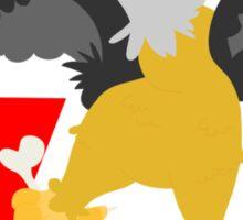 v for vulture Sticker