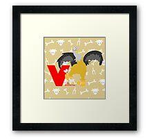 v for vulture Framed Print
