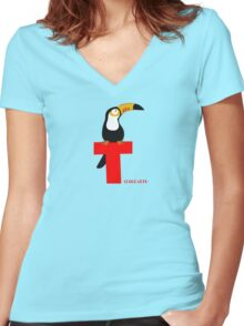 t for toucan Women's Fitted V-Neck T-Shirt