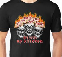 Funny Chef Skulls: If You Can't Take the Heat... Unisex T-Shirt