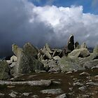Glyder Fawr Rock Formations, Snowdonia - Wales by Kat Simmons