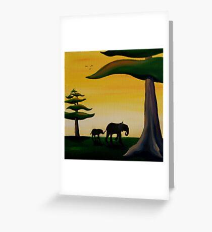 Elephant Silhouette Greeting Card