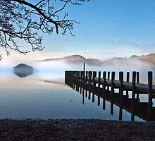 Coniston water on a misty morning by Shaun Whiteman
