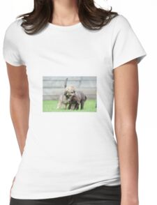 Puppies playing Womens Fitted T-Shirt