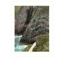 Ancient Rock Formations at South Stack - Isle of Anglesey Art Print