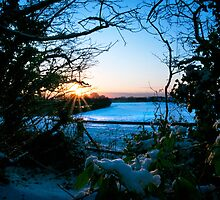 Snowy Sunset by Sue Smith