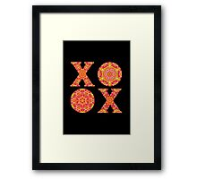 XO with love Framed Print