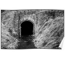 Tunnel Vision in B&W Poster
