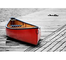 The Red Canoe  Photographic Print