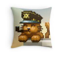 AQUA KITTY - Captain cat Throw Pillow