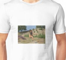 Dog leaping Unisex T-Shirt