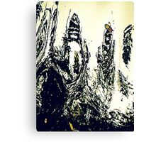 Monster At The Computer Canvas Print