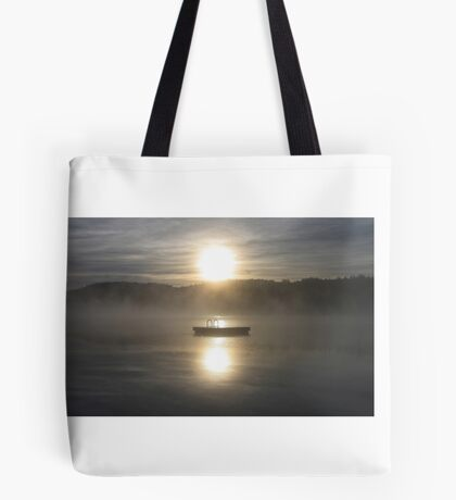 Waiting for fun - Dock on lake Tote Bag