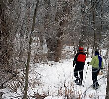 Snow Shoeing In The Park by kkphoto1