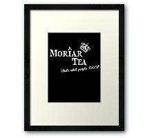 Moriar Tea 4 Framed Print