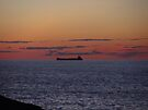 Sunset Freighter by Karen Karl
