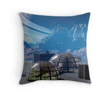 Outpost 47.  Remote base in outer space. Throw Pillow