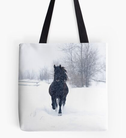 Dashing through the snow - Horse Tote Bag