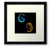 number 6 and number 9 Framed Print
