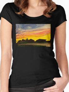 Stormy Sunset in Texas Women's Fitted Scoop T-Shirt