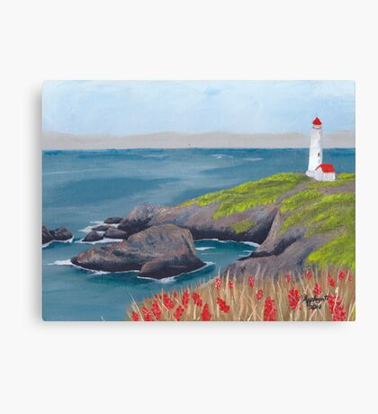 Lighthouse Waiting ~ Seascape ~ Oil Painting Canvas Print