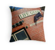 Life Guard,Eastern Beach Nostalgia Throw Pillow