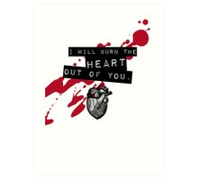 Moriarty - Heart Art Print