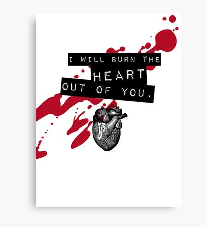 Moriarty - Heart Canvas Print