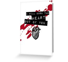 Moriarty - Heart Greeting Card