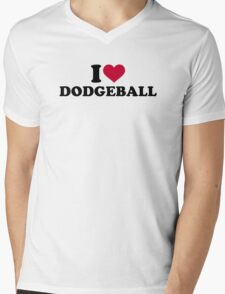 I love Dodgeball Mens V-Neck T-Shirt