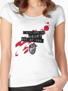 Moriarty - Heart Women's Fitted Scoop T-Shirt
