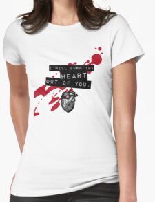 Moriarty - Heart Womens Fitted T-Shirt