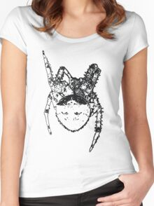 Cat Face Spider  Women's Fitted Scoop T-Shirt