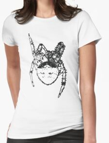 Cat Face Spider  Womens Fitted T-Shirt