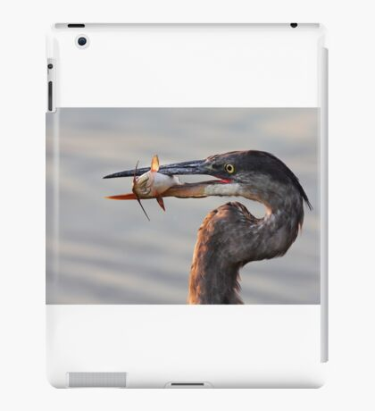 A fresh catch - Great Blue Heron iPad Case/Skin