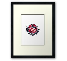 I Am a Patriot Framed Print
