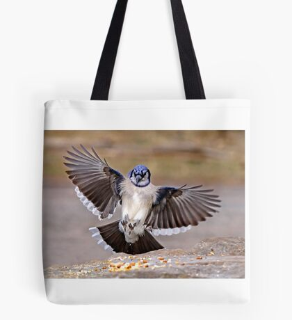 Blue Jay Lands Tote Bag