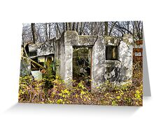 Haven's Cottage Bungalo Ruins Greeting Card