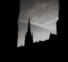Edinburgh dusk by collpics
