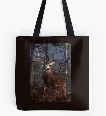 Buck on ridge portrait - White-tailed Deer Tote Bag