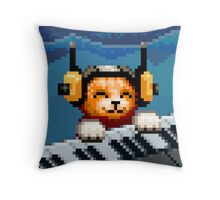 AQUA KITTY - Keyboard Cat Throw Pillow