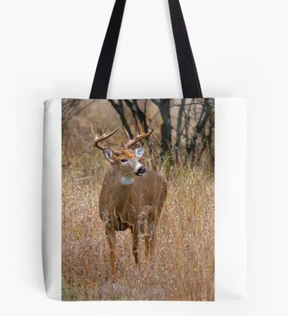 Blood Antlers - White tailed deer Buck Tote Bag