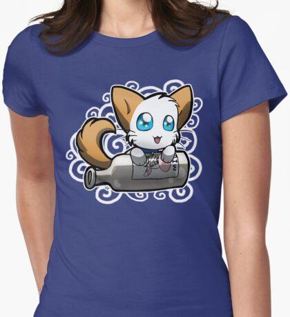 Zodiac Cats - Aquarius Womens Fitted T-Shirt