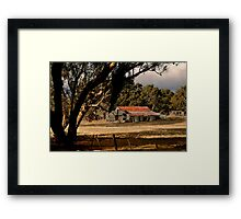 Old Shedding Lexton Victoria Framed Print