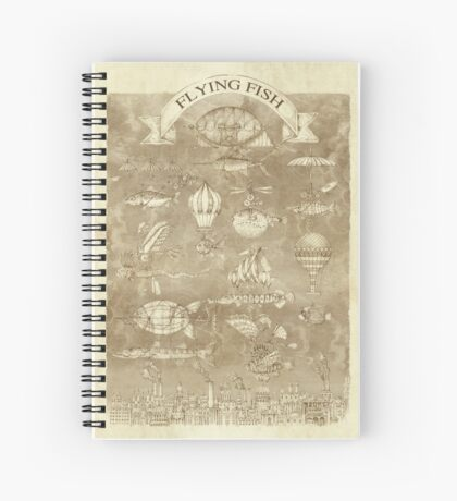 Flying Fish Spiral Notebook