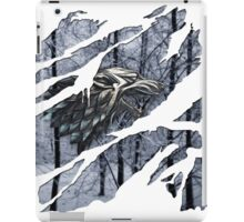 Stark house sigil winter ripped iPad Case/Skin