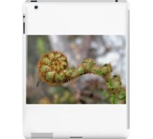 New fern frond with Insect, Cradle Mountain,Tasmania, Australia. iPad Case/Skin