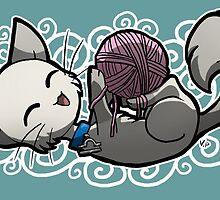 Zodiac Cats - Libra by OddworldArt