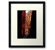 Standley Chasm,McDonell Ranges,N.T. Framed Print